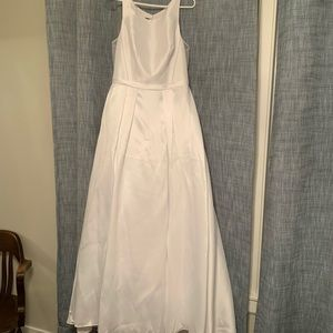 David's Bridal High-Neck Mikado Ballgown
